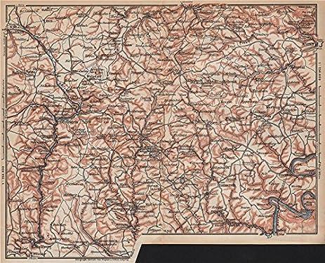 Amazoncom VULKANEIFEL THE VOLCANIC EIFEL topomap Gerolstein