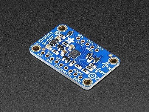 Adafruit (PID 3387) 9-DOF Accel/Mag/Gyro+Temp Breakout Board - LSM9DS1
