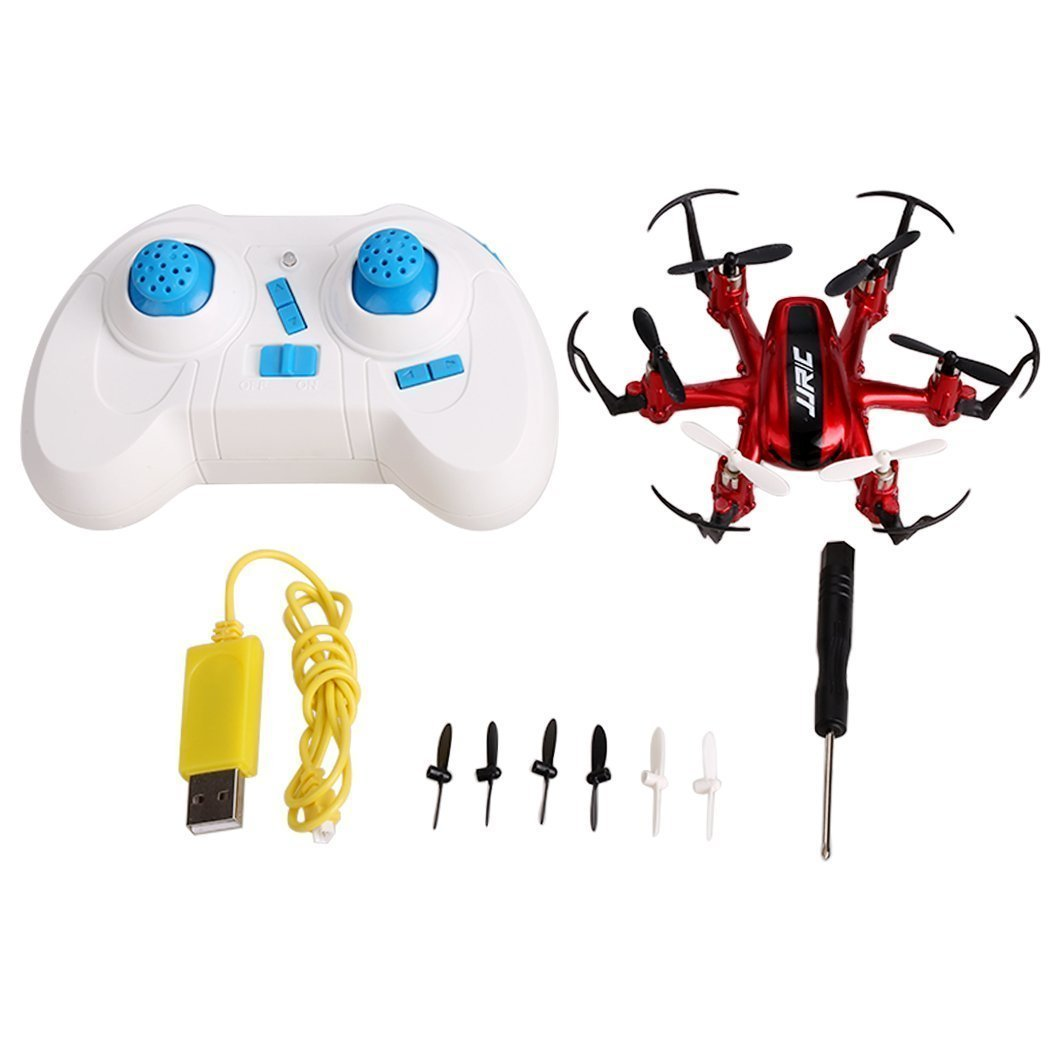 JJRC H20 RC Quadcopter Mini Drone with 2.4G 4CH 6-Axis Gyro RTF (Red)