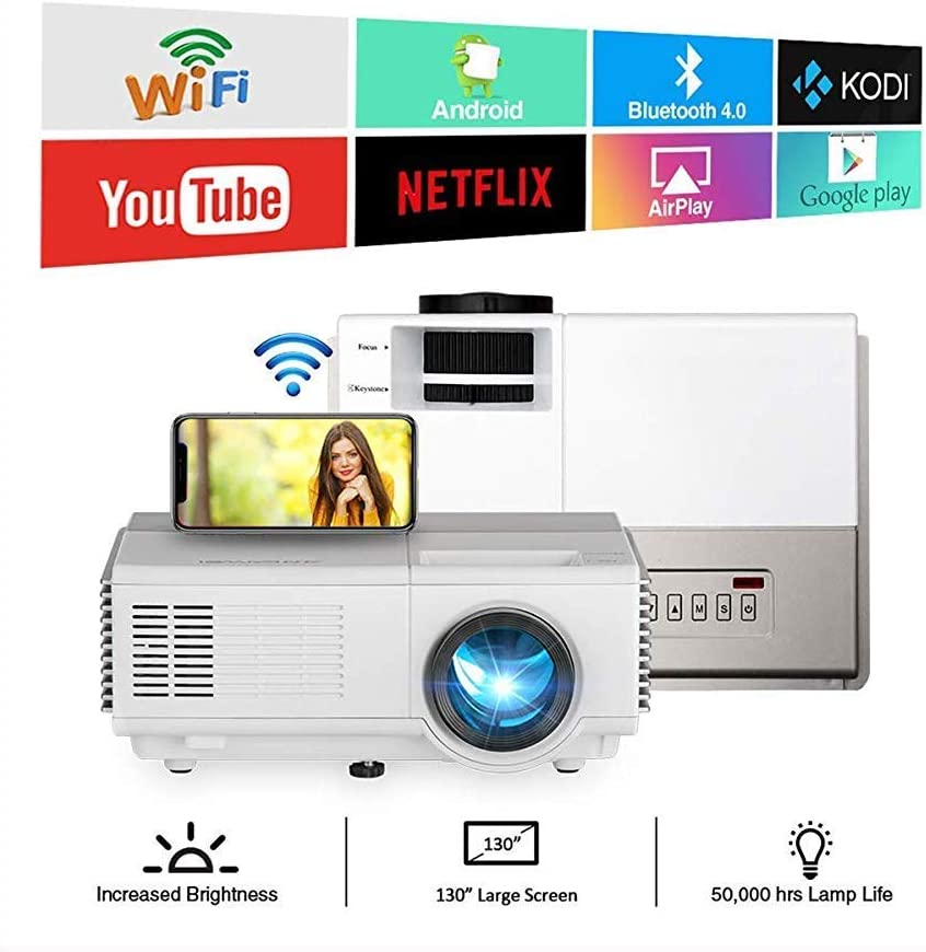 SWEET WiFi Proyector Es Compatible con 1080p LCD Altavoz ...