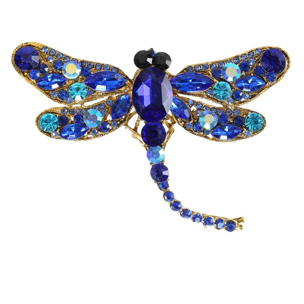 Ogquaton Lib/élula para mujer Premium Rhinestone Broche de cristal Pin de la fiesta de Navidad Regalo de boda verde
