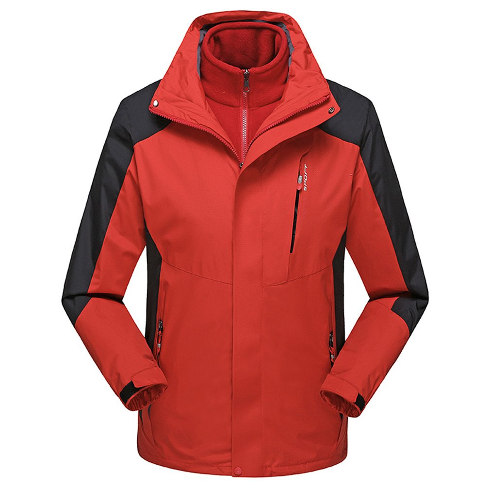 Heroader Men's 3-in-1 Ski Jacket Detachable Fleece Liner Waterproof Wind Breaker
