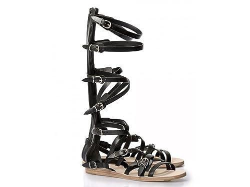 a8e83fcad270 Balenciaga Women s Black Calf Leather Flat Sandals Shoes - Size  9.5 ...