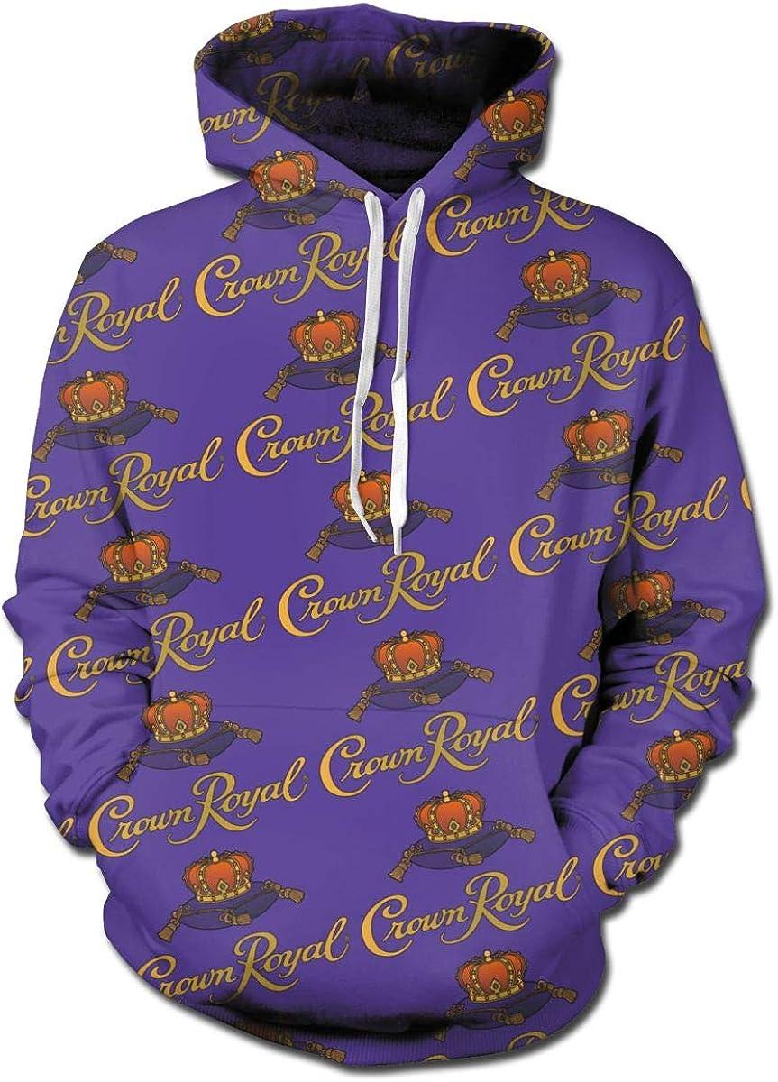 SHOEWPQIA Men's Crown Royal Pullover Hooded Sweatshirt
