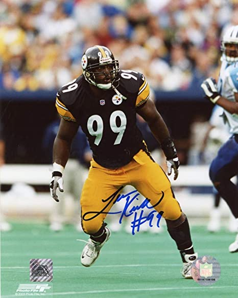36dc1e465 Levon Kirkland Autographed Pittsburgh Steelers 8x10 Photo (Black Jersey)  SCC COA at Amazon s Sports Collectibles Store