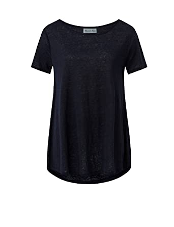 4089c60bef7 BMJL Women's Tops Short Sleeve Casual Tunic Round Neck Black Plain Basic  Loose Tee T Shirts: Amazon.co.uk: Clothing