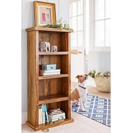 Angel Furniture Space Saver Simply Designed Sheesham Wood Bookshelf Honey