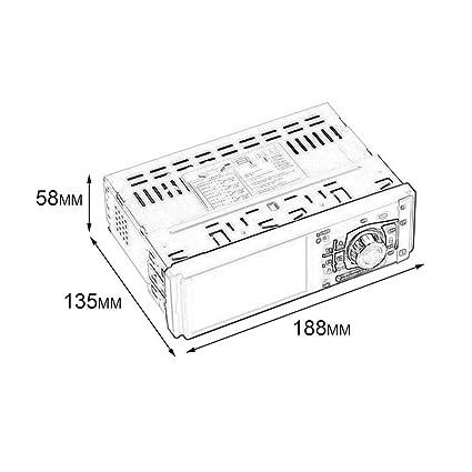 Amazon Com 4012b 4 1 Inch 1 Din Mp5 Player Car Radio Auto Audio