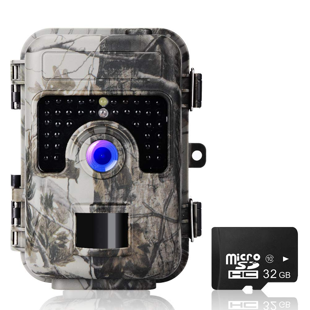 Trail Game Camera, UncleHu 16MP 1080P Hunting Camera with Night Vision Motion Activated Waterproof, Trail Cam 2.4 LCD Screen with 32G SD Card for Wildlife Animal Scouting Surveillance 2019 Upgraded