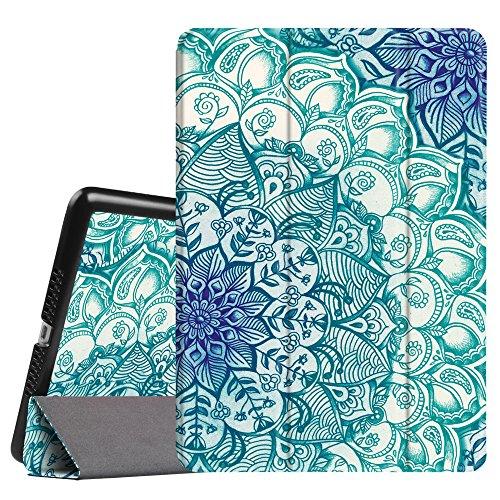 Fintie iPad Mini 3/2/1 Case - Lightweight Slimshell Smart Stand Cover with Premium PU Leather Back Protector for Apple iPad Mini 1/Mini 2/Mini 3 (Auto Wake/Sleep), Emerald Illusions