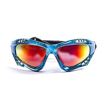 Ocean Sunglasses Australia - Gafas de Sol polarizadas - Montura : Azul Transparente - Lentes : Amarillo Espejo (11701.6): Amazon.es: Deportes y aire libre
