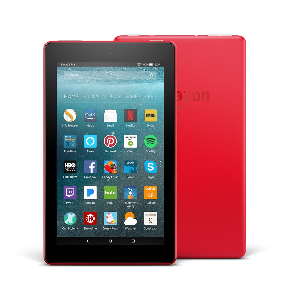 Fire 7 Tablet  (7'' display, 16 GB) - Red - (Previous Generation - 7th)
