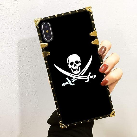 Amazon com: Bonoma Black Skull Wallpaper Phone Case for