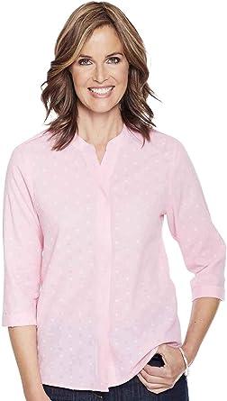 Nino Cerruti Camisa Dobby para Mujer Rosa UK 18 / EU 46: Amazon.es: Ropa y accesorios