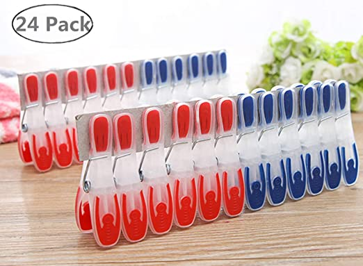 24pcs Lightweight Mixed Painted Clips Paper Clips Craft Clips for Craft Project