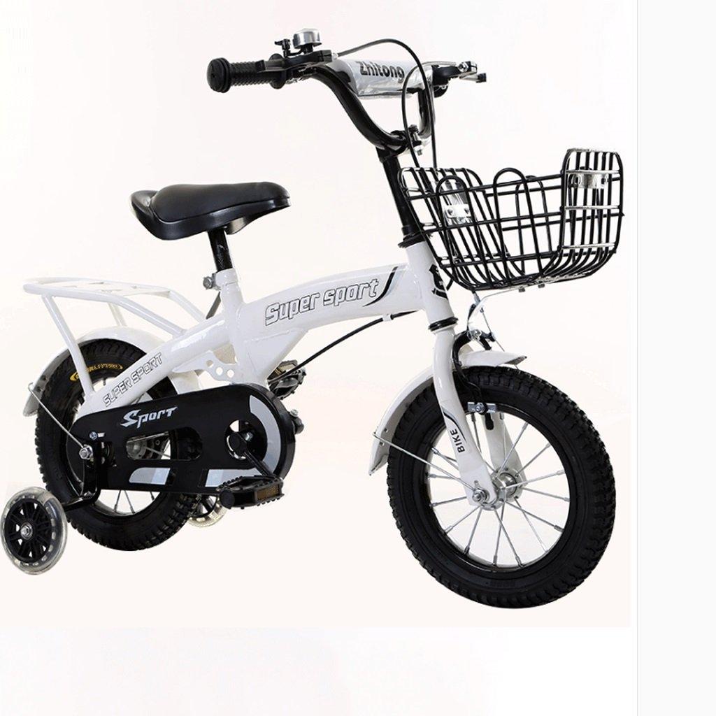 DGF 子供の三輪車2-8歳の男性と女性のベビー自転車の子供は自転車のインフレータブルホイールをプッシュ (色 : 白, サイズ さいず : 16 inches) B07F1G98XW 16 inches|白 白 16 inches