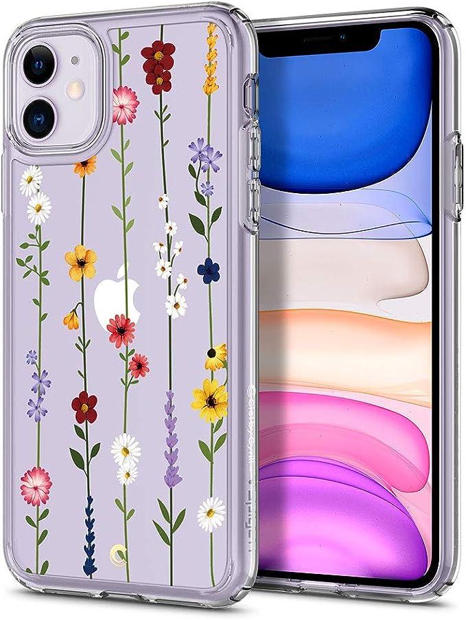 Amazon.com: CYRILL Cecile Designed for Apple iPhone 11 Case (2019) Clear | TPU | PC | Bumper | Slim |Plastic - Flower Garden