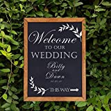 Premium Magnetic Decorative Hanging Chalkboard with Rustic Pine Wood, Use with Regular or Liquid Chalk, Non Porous Wall Blackboard for Home, Classroom, Office