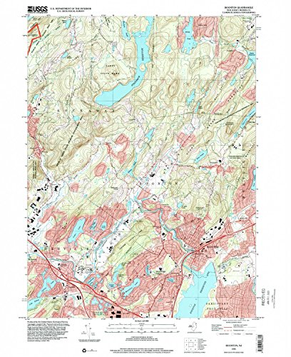 Boonton NJ topo map, 1:24000 scale, 7.5 X 7.5 Minute, Historical, 1995, updated 2000, 27 x 22 IN - Tyvek