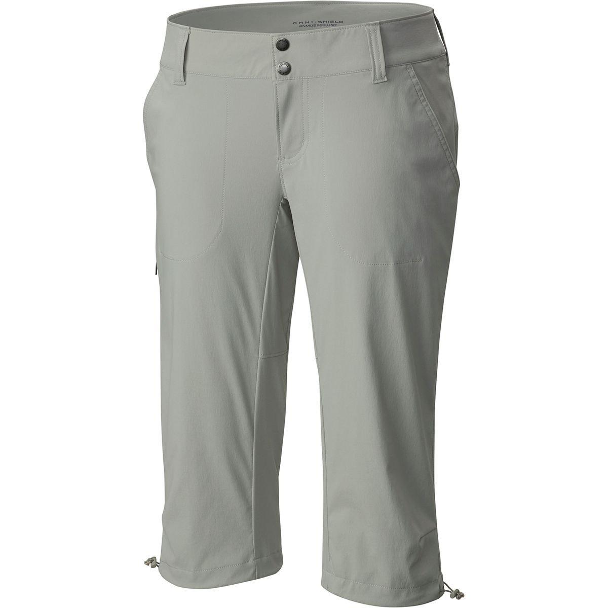Columbia Women's Saturday Trail II Knee Pant, Water & Stain Resistant,Flint Grey,8 X 18'' inseam by Columbia