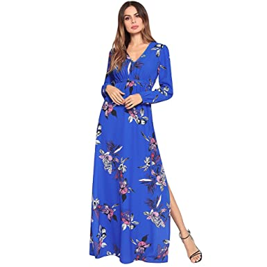 ee5eb9d0542 SJMMQZ nouvelle robe d été imprimée