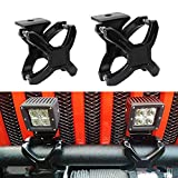 "iJDMTOY (2) 2""-3"" Adjustable Bull Bar Tube X-Clamp Mounting Brackets For Jeep 4x4 Offroad Truck SUV Van To Mount Cubic LED Pod Driving Lights, LED Light Bar, LED Driving Fog Lamps, etc"
