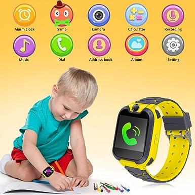 Relojes Inteligentes para Niños con Llamadas Telefónicas, Chat de Voz Cámara, Album, Despertador, Calculadora, Juego de Música, Regalos