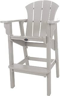 product image for Nags Head Hammocks Sunrise Bar Dining Chair, Gray