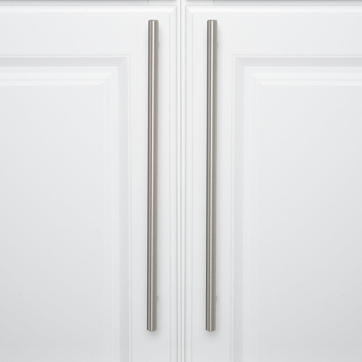 15,57 cm de longitud tipo europeo centro del orificio de 9,52 cm Satin Nickel N/íquel satinado Basics AB1502-SN-10 Tirador de armario en forma de barra
