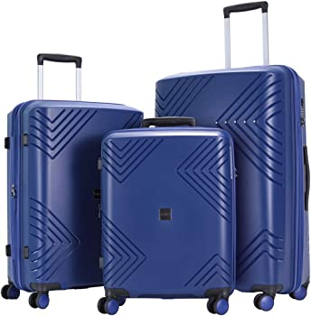 GinzaTravel Anti-scratch Widened and Thickened 3-Piece Luggage Sets