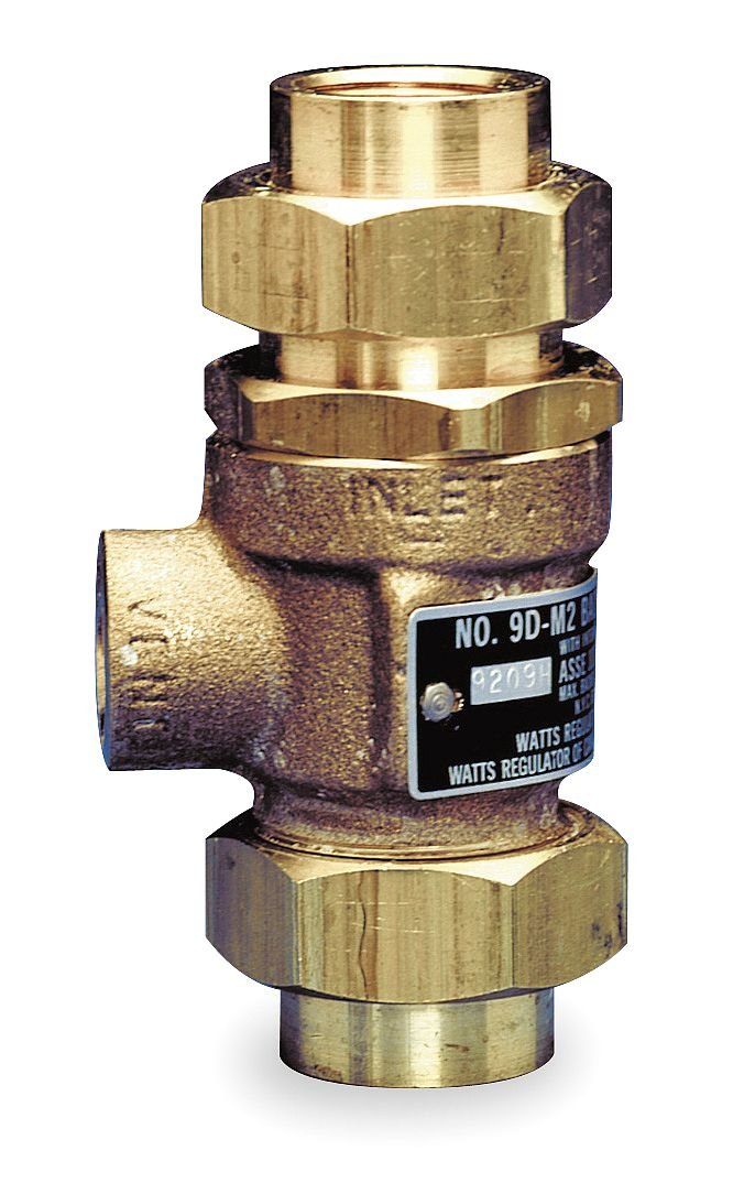 Watts 9DM2 3/4 Backflow Preventers Dual Check Valve with Intermediate Atmospheric Vent, 3/4'' Size, Brass