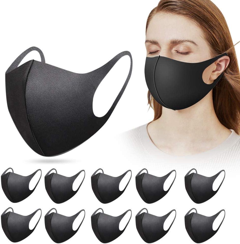 12 Pack de Mas&Que Reutilizable, lavable y permeable al aire con protección contra el polvo, el sol y la contaminación para mujeres y hombres