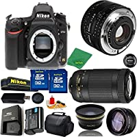 Great Value Bundle for D750 DSLR – 50MM 1.8D + 70-300MM AF-P + 2PCS 32GB Memory + Wide Angle + Telephoto Lens + Case