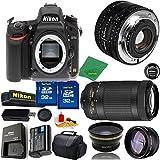Great Value Bundle for D750 DSLR – 50MM 1.8D + 70-300MM AF-P + 2PCS 32GB Memory + Wide Angle + Telephoto Lens + Case