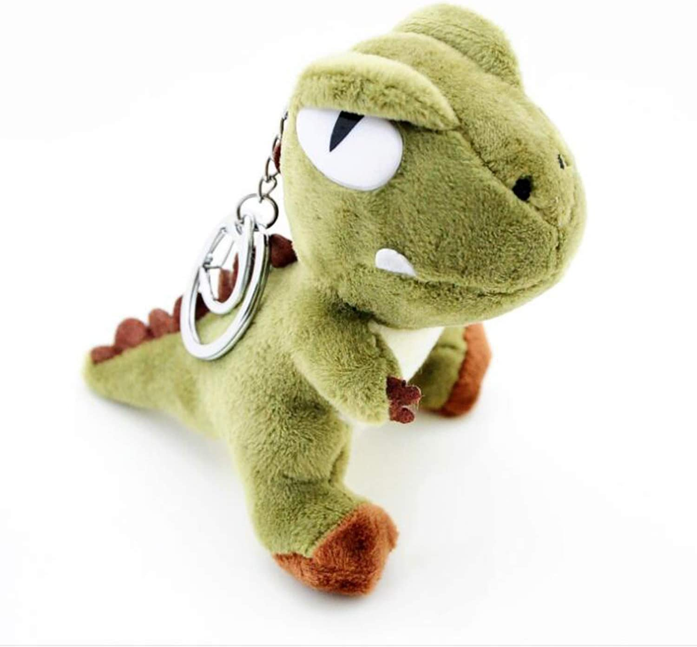 Ruzucoda Plush Dinosaur Keychain Stuffed Animals Toys Backpack Ornaments Pendant Key Ring Green 10cm