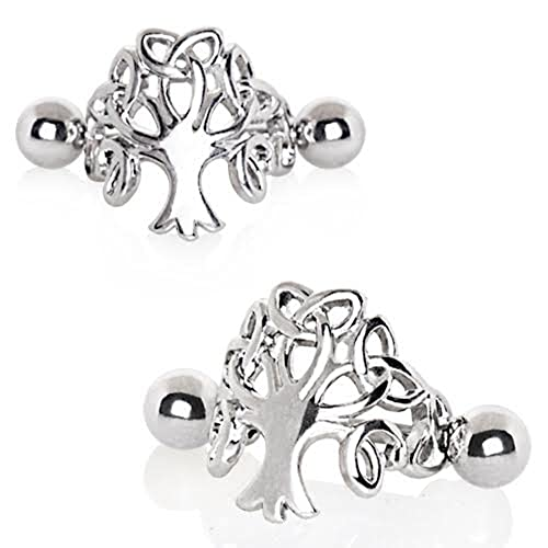 72ad5acab Amazon.com: 316L Stainless Steel Tree of Life WildKlass Cartilage Cuff  Earring - Sold by Piece: Jewelry