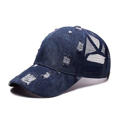 Lanceyy Unisex Vintage Cowboy Hat Gorra Cap Jeans Deporte De ...