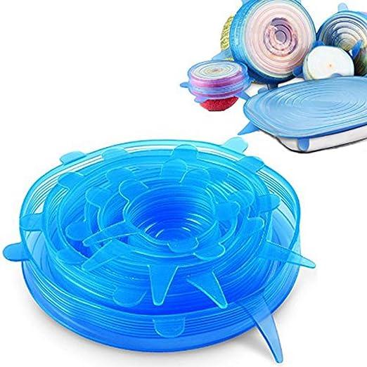 Tmade - Tapas de silicona elásticas reutilizables para guardar ...