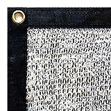 Stone Shade & Tarps 40% Aluminet Shade Net 10x12 + 10pcs Bungee Cords