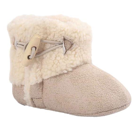 95d6745e Invierno Zapatos de Bebé Niñs Recién Nacido Suela Blanda Botas de nieve cuna  suaves Primeros Pasos: Amazon.es: Ropa y accesorios