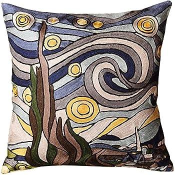 Amazon.com: KLIMT Art Nouveau Aqua cubierta de almohada ...