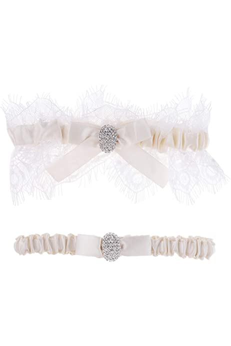 Size S//M Ivory Lace with choice of 24 bow colours Wedding Garter