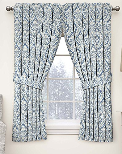 Waverly 15421052084CRF Damask Window Curtain, 52