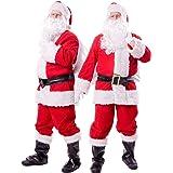 【 本格すぎる… 】monoii サンタ コスプレ コスチューム サンタクロース 衣装 サンタコス メンズ クリスマス こすぷれ 仮装 大きいサイズ 10点 セット 552