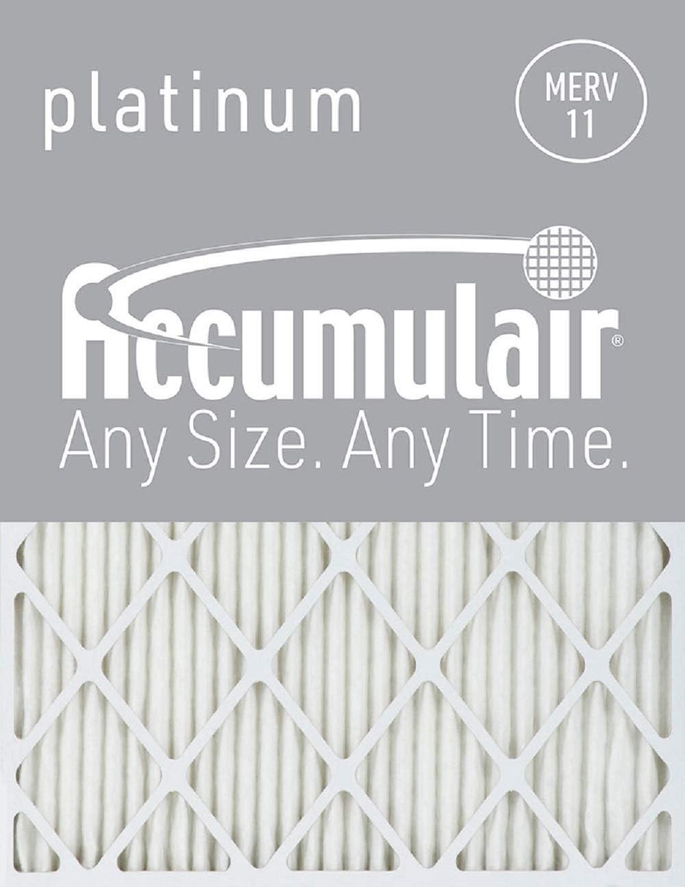 Accumulair Platinum 16x30x1 (15.5x29.5) MERV 11 Air Filter/Furnace Filters (6 pack)