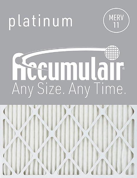 6 pack Accumulair Platinum 21x23x1 Actual Size MERV 11 Air Filter//Furnace Filters