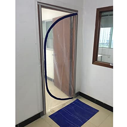GURGLE Heavy Dust Stop Door Pre-Assembled Duty Reusable Zip Door Dust Barrier Guard Protection  sc 1 st  Amazon.com & GURGLE Heavy Dust Stop Door Pre-Assembled Duty Reusable Zip Door ...