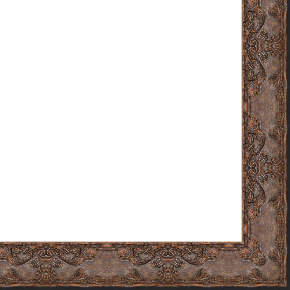 Picture Frame Moulding (Wood) 18ft bundle - Traditional Antique Gold Finish - 3.25'' width - 3/4'' rabbet depth