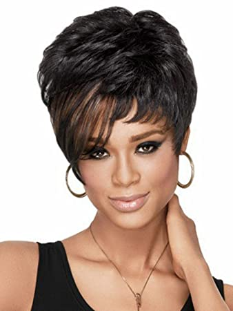 Free Shipping 2015 Pelucas Short Women Wigs Synthetic Hair Wig (35cm/13.78inch,