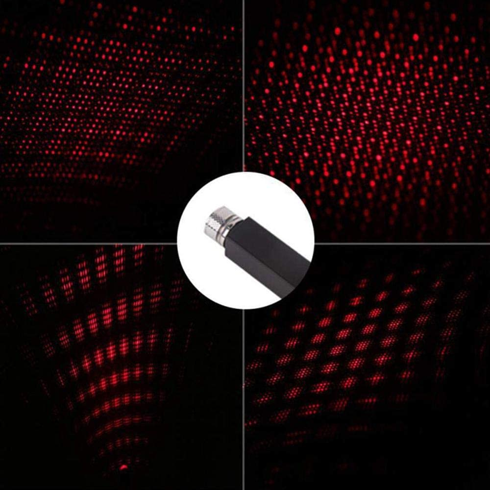 Red FOONEE Car USB Atmosphere Ambient Star Light Car Interior Lights Decorative Romantic Auto Roof Star Projector Lights Plug /& Play Car Home Ceiling Romantic USB Night Light for Car//Home Party